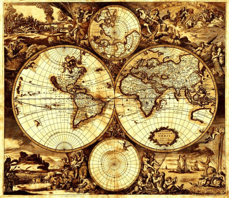 Kaart royalty-vrije illustratie