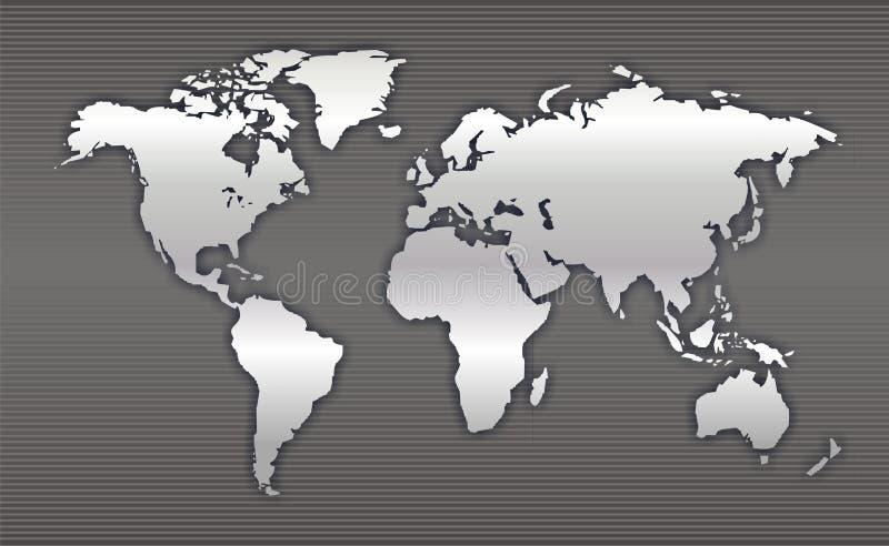 Kaart 2 van de wereld royalty-vrije illustratie