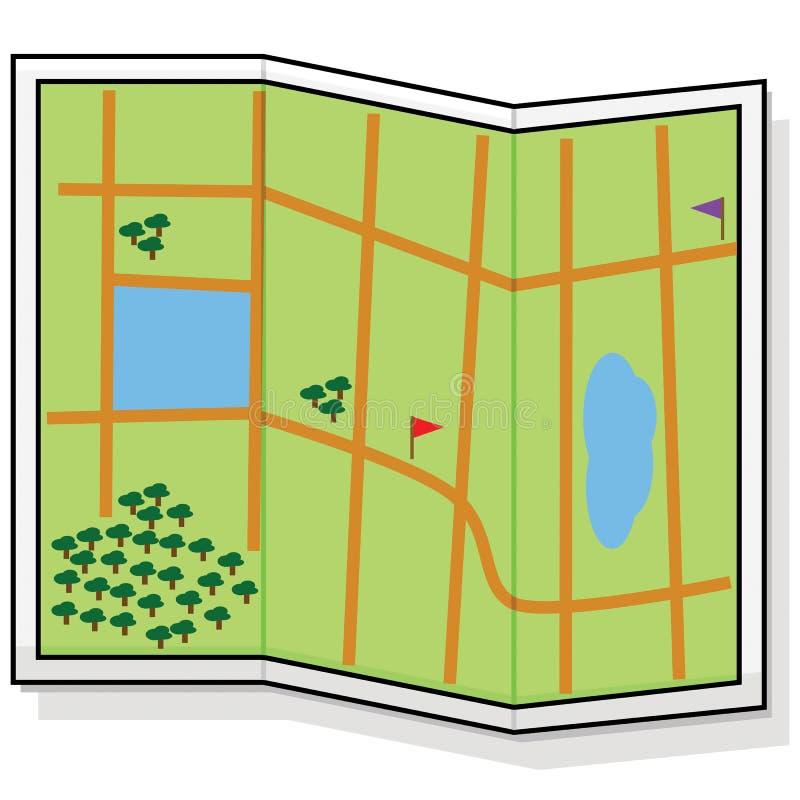 Kaart vector illustratie