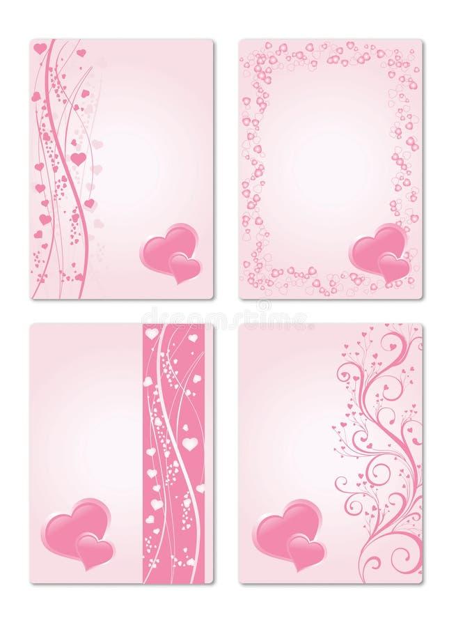 Kaart 4 van de valentijnskaart vector illustratie