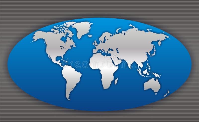Kaart 4 van de wereld vector illustratie