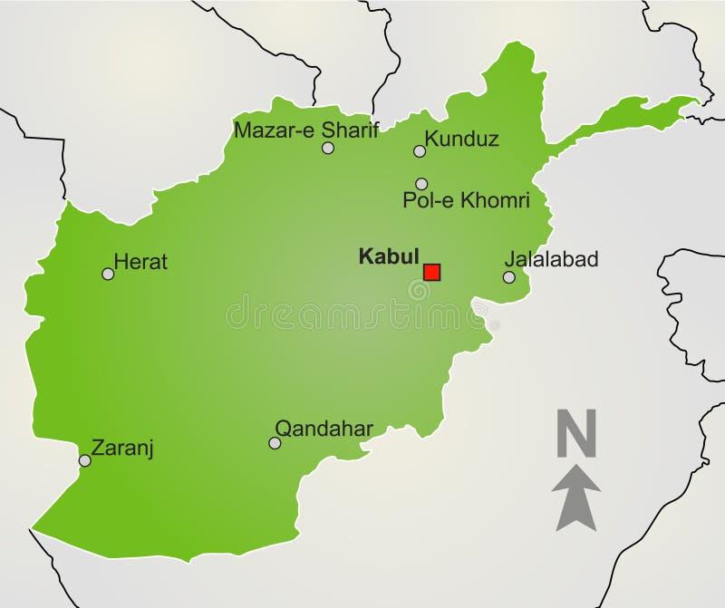 Kaart Afghanistan stock illustratie