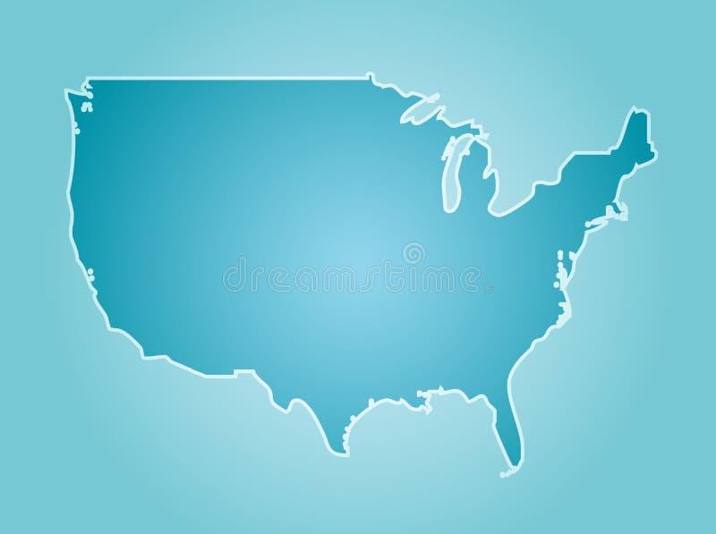Kaart Amerika royalty-vrije illustratie