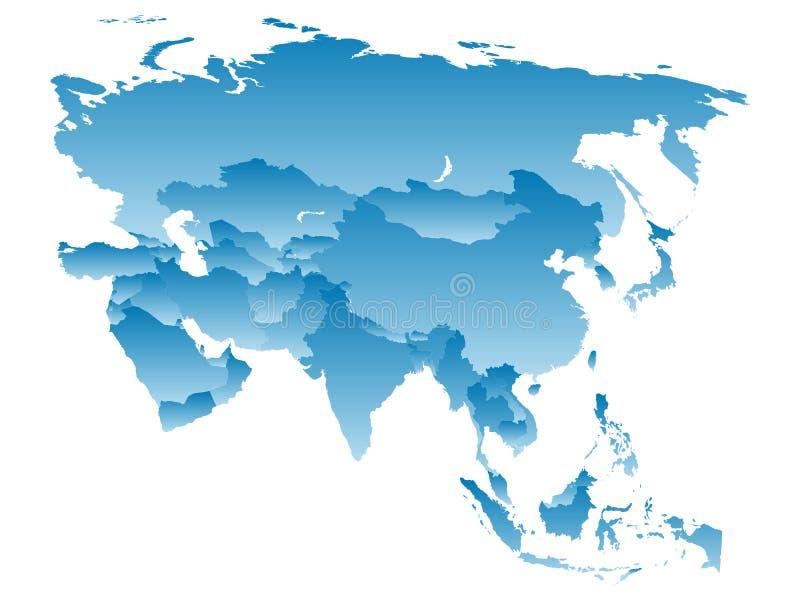 Kaart Azië stock illustratie