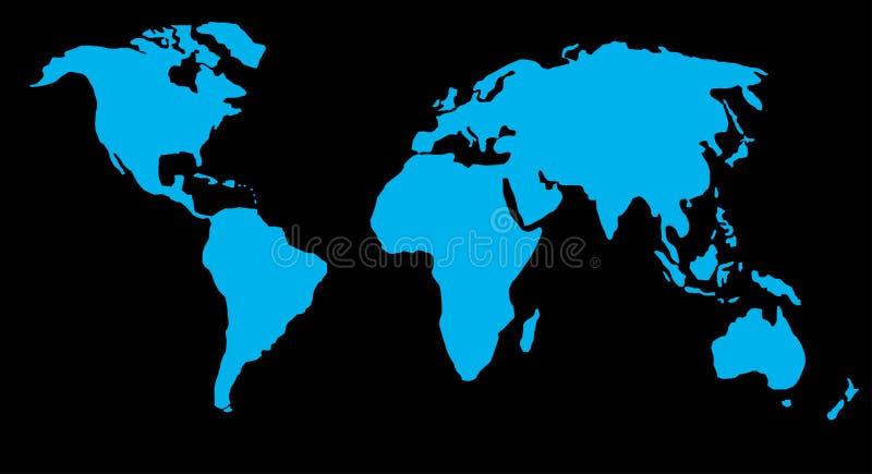 Kaart of bol van wereld royalty-vrije illustratie