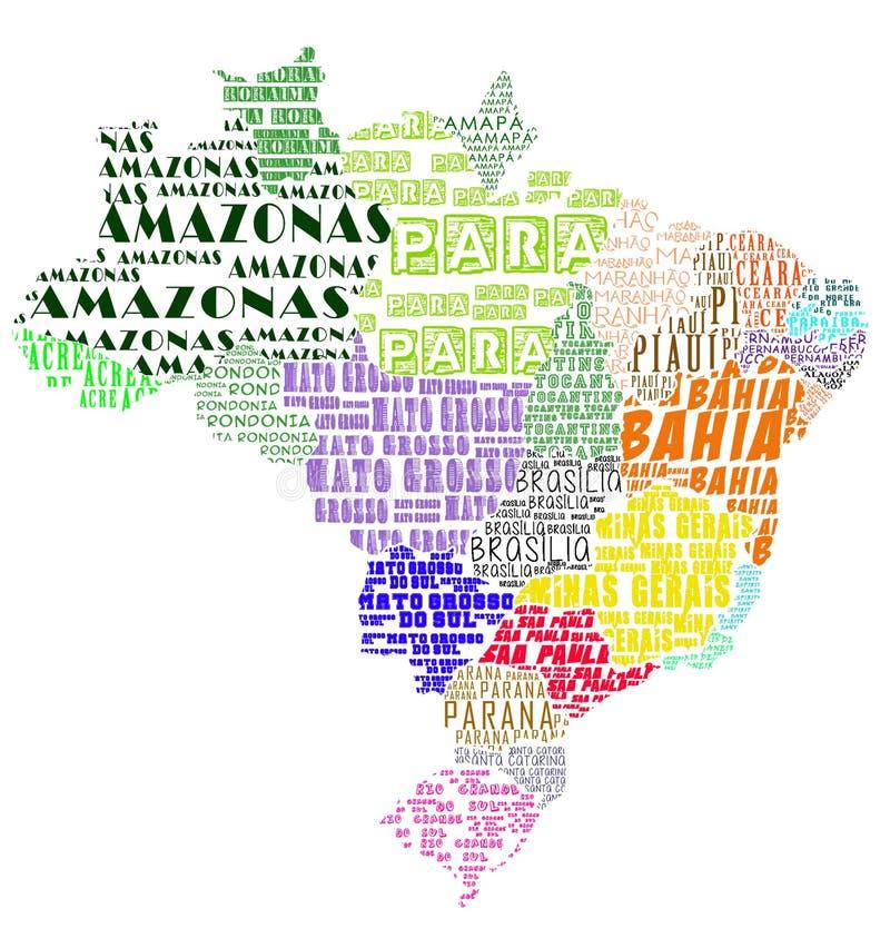 Kaart Brazilië royalty-vrije stock foto
