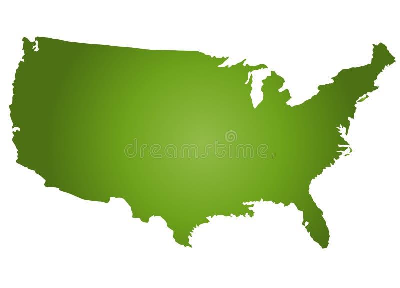 Kaart de V.S. vector illustratie