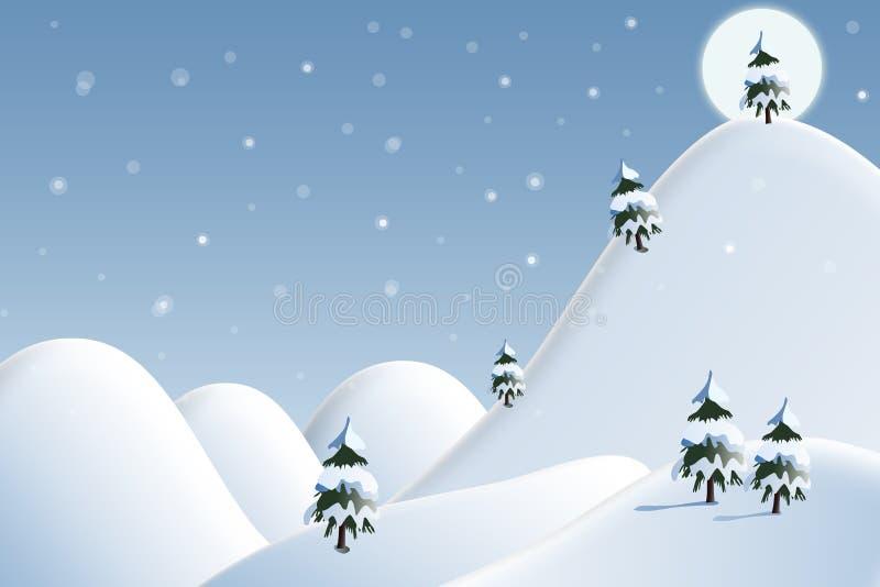 Kaart: de winter landschap royalty-vrije stock afbeeldingen