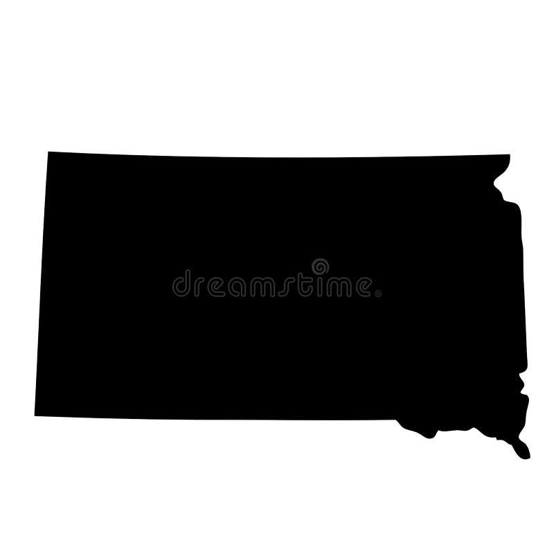 Kaart de Zuid- van Dakota royalty-vrije illustratie