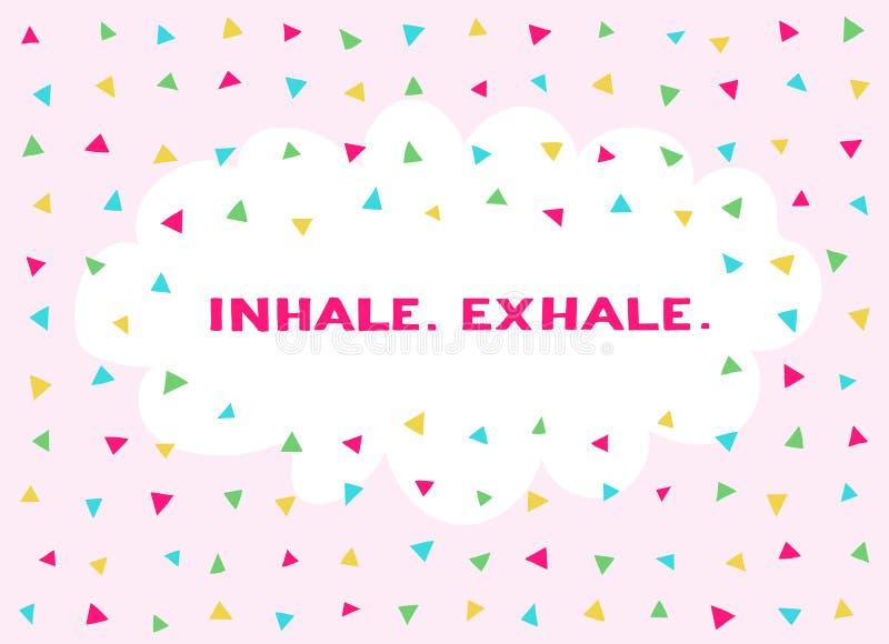 Kaart in een minimale stijl, vectormalplaatjes inhaleer exhale stock illustratie