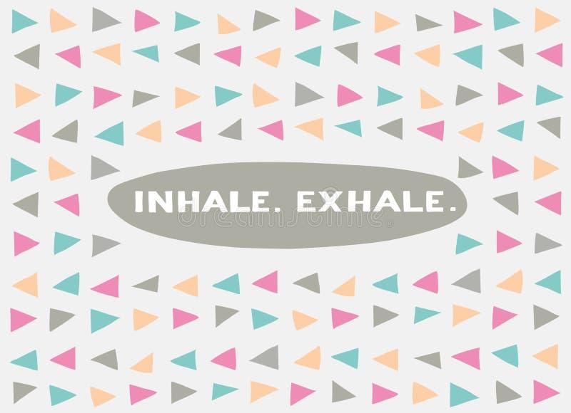 Kaart in een minimale stijl, vectormalplaatjes inhaleer exhale royalty-vrije illustratie