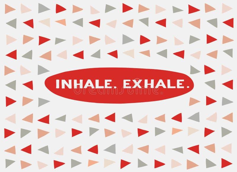 Kaart in een minimale stijl, vectormalplaatjes inhaleer exhale vector illustratie