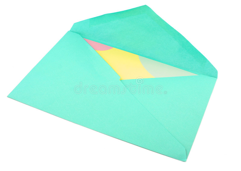 Kaart en envelop stock afbeelding