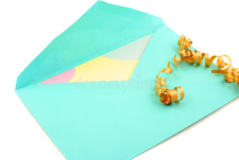 Kaart en envelop royalty-vrije stock foto