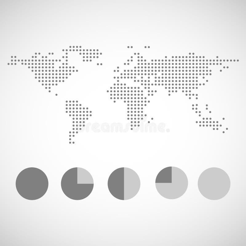 Kaart en grafiekpictogrammen geplaatst voor om het even welk gebruik groot Vector eps10 royalty-vrije illustratie