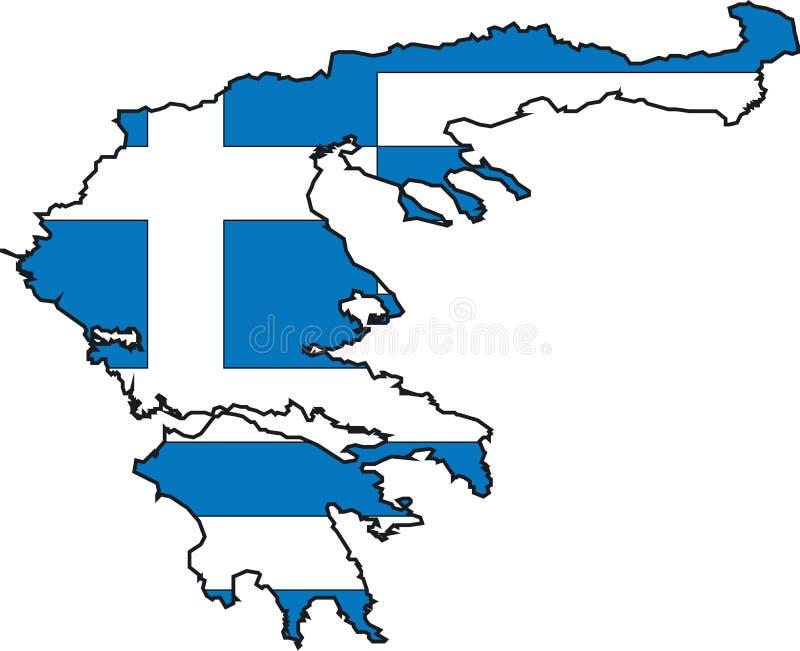 Kaart Griekenland vector illustratie