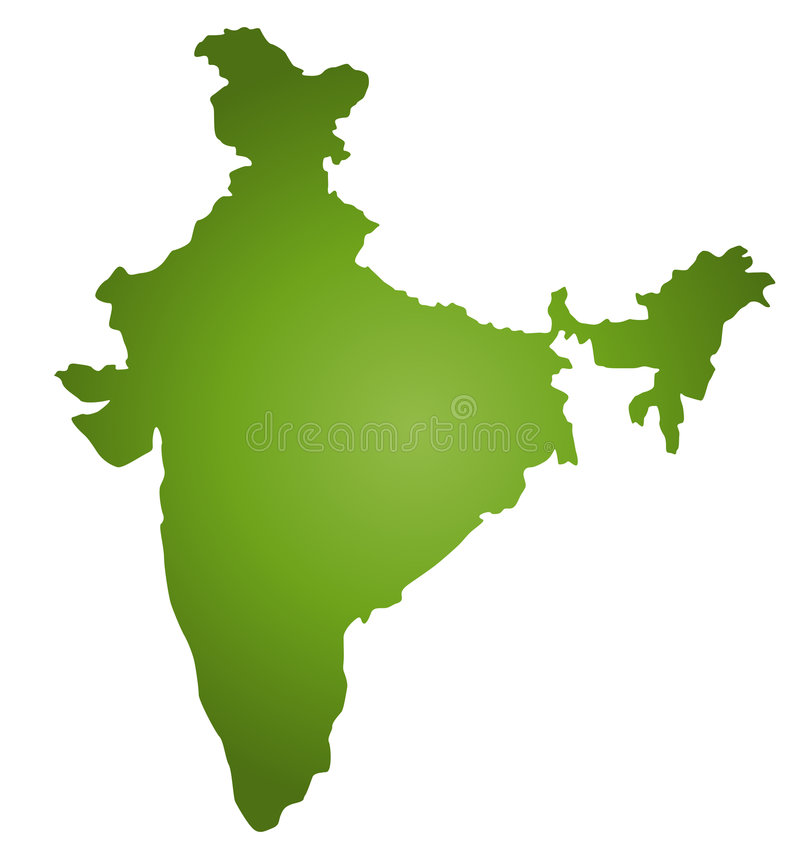 Kaart India royalty-vrije illustratie