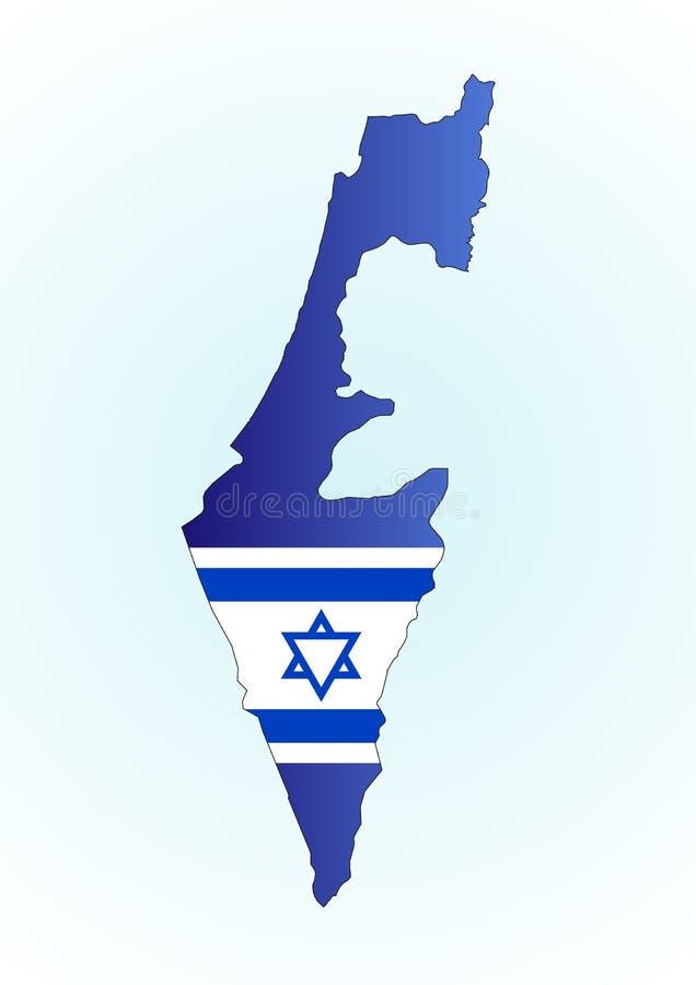 Kaart Israël en vlag royalty-vrije illustratie