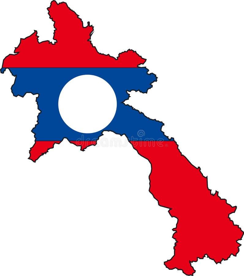 Kaart Laos royalty-vrije illustratie