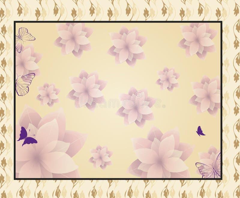 Download Kaart met bloemen vector illustratie. Illustratie bestaande uit patroon - 29500112