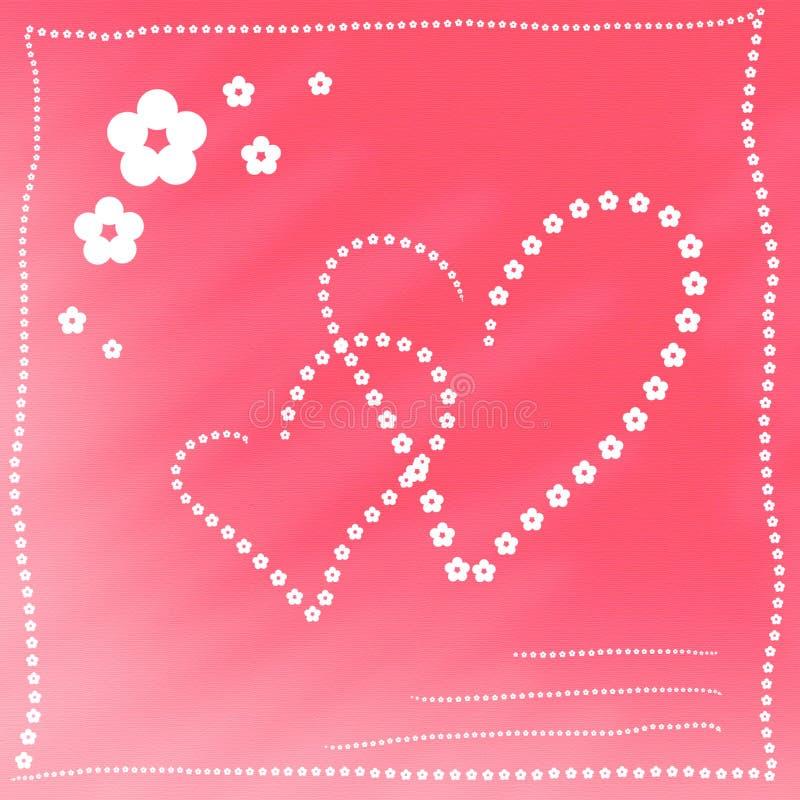 Kaart met hart royalty-vrije illustratie