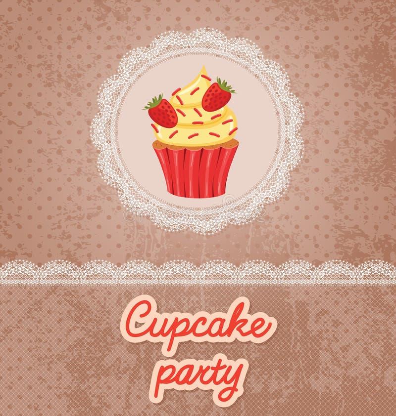 De Partij van Cupcake! vector illustratie