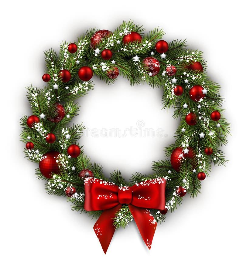 Kaart met Kerstmiskroon vector illustratie