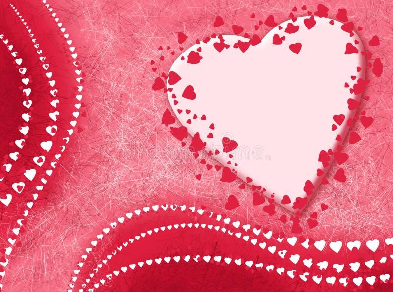 Kaart met liefde stock illustratie