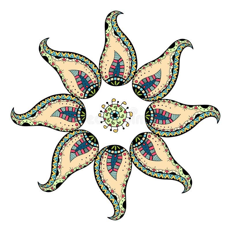 Kaart met mandala stock illustratie
