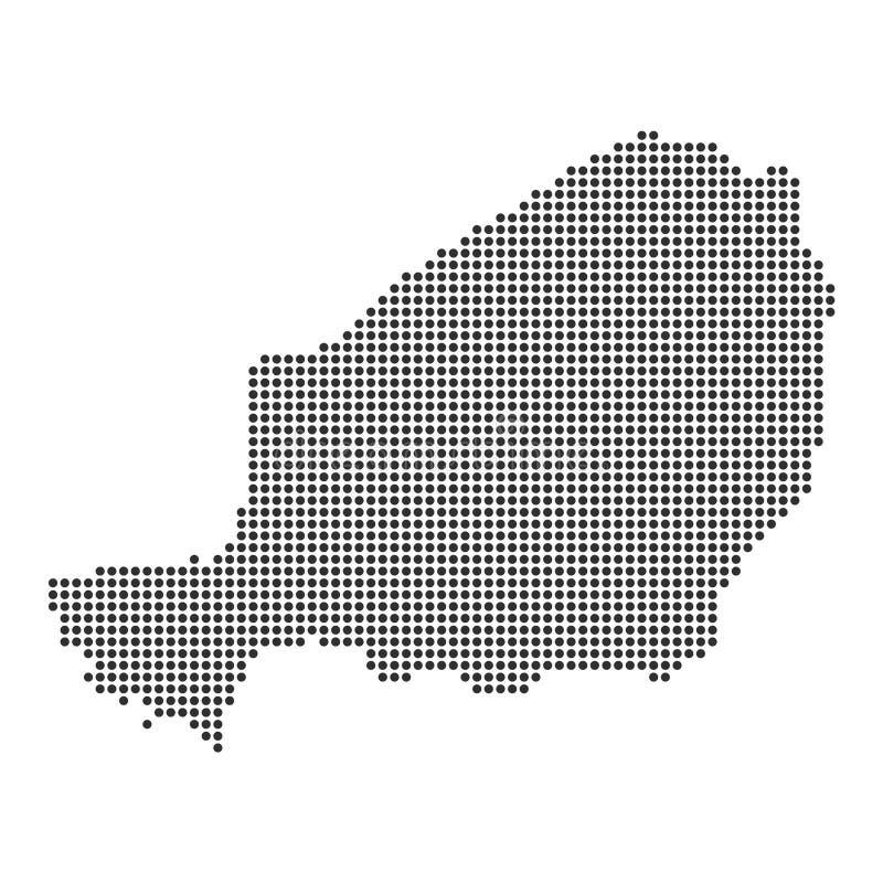 Kaart met punt vector illustratie