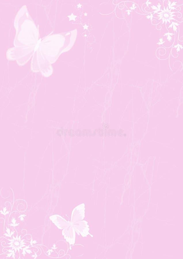 Kaart met vlinder stock fotografie