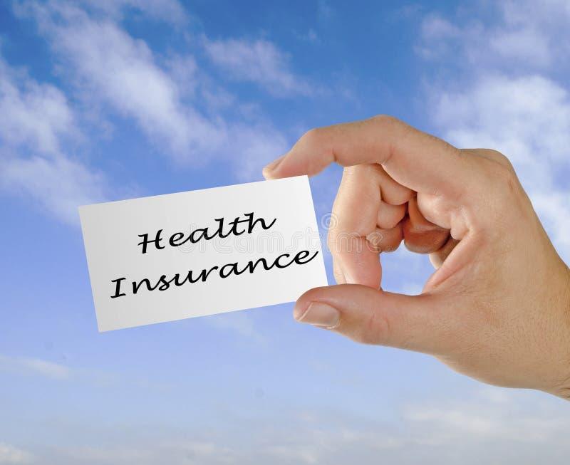 Kaart met Ziektekostenverzekering stock foto