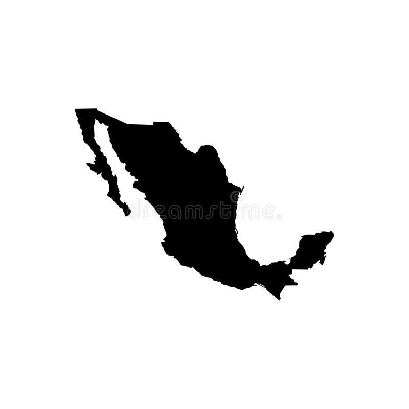 Kaart - Mexico royalty-vrije illustratie