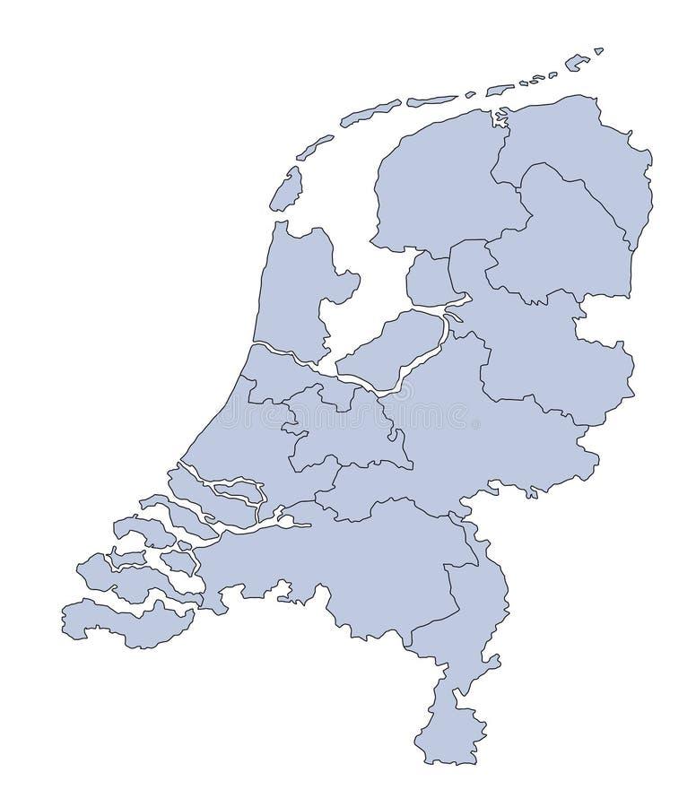 Kaart Nederland stock illustratie