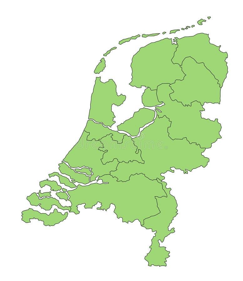 Kaart Nederland vector illustratie