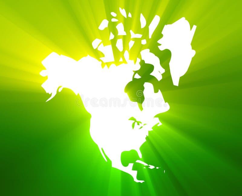 Kaart Noord-Amerika vector illustratie