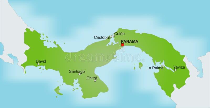 Kaart Panama vector illustratie