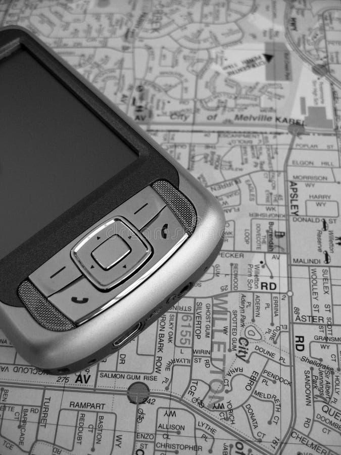 Kaart PDA royalty-vrije stock foto