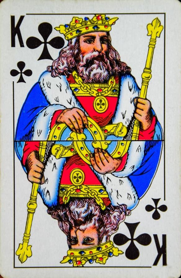 Kaart speelkoning van clubs, kostuum van clubs royalty-vrije stock afbeelding