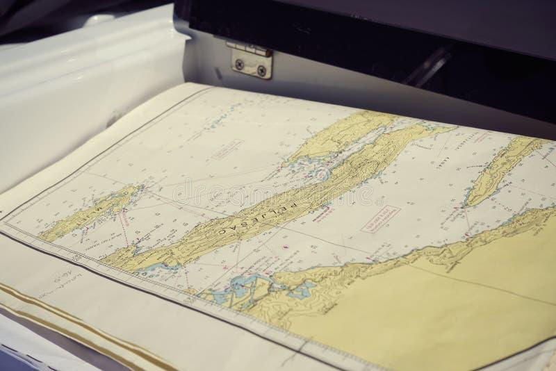 Kaart van Adriatic royalty-vrije stock afbeeldingen