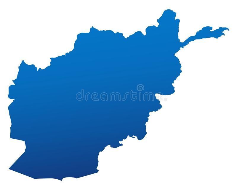 Kaart van Afghanistan stock illustratie
