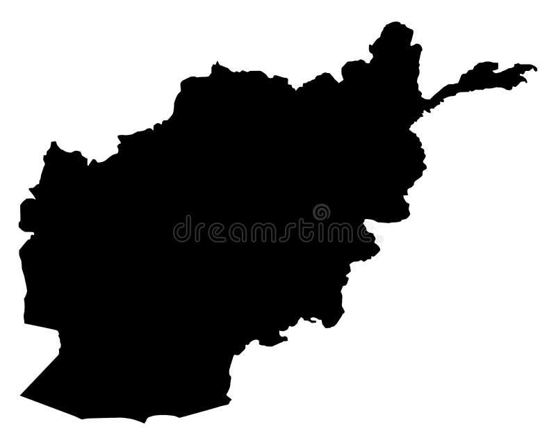 Kaart van Afghanistan royalty-vrije illustratie