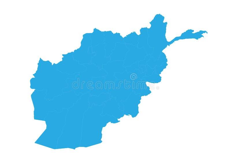 Kaart van Afghanistan Hoog gedetailleerde vectorkaart - Afghanistan royalty-vrije illustratie