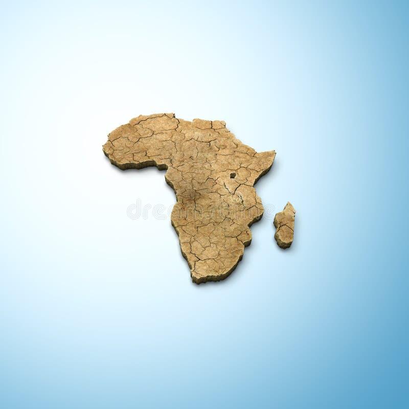 Kaart van Afrika vector illustratie
