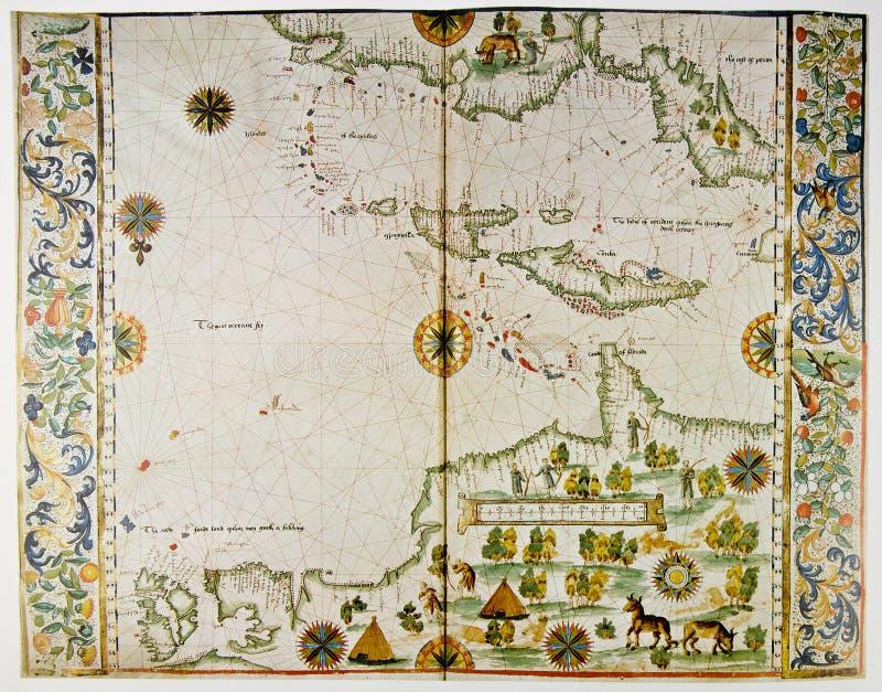Kaart van Amerika en de Antillen royalty-vrije stock foto's