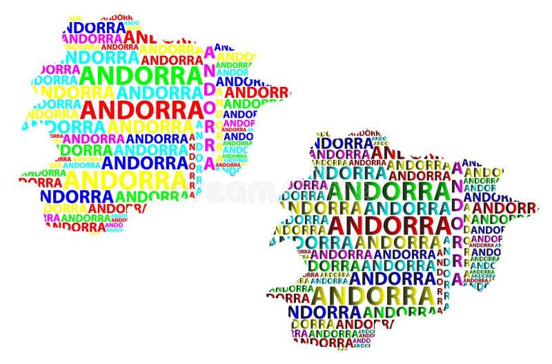 Kaart van Andorra - vectorillustratie royalty-vrije illustratie