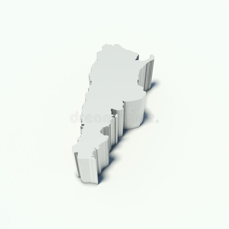 Kaart van Argentinië stock illustratie