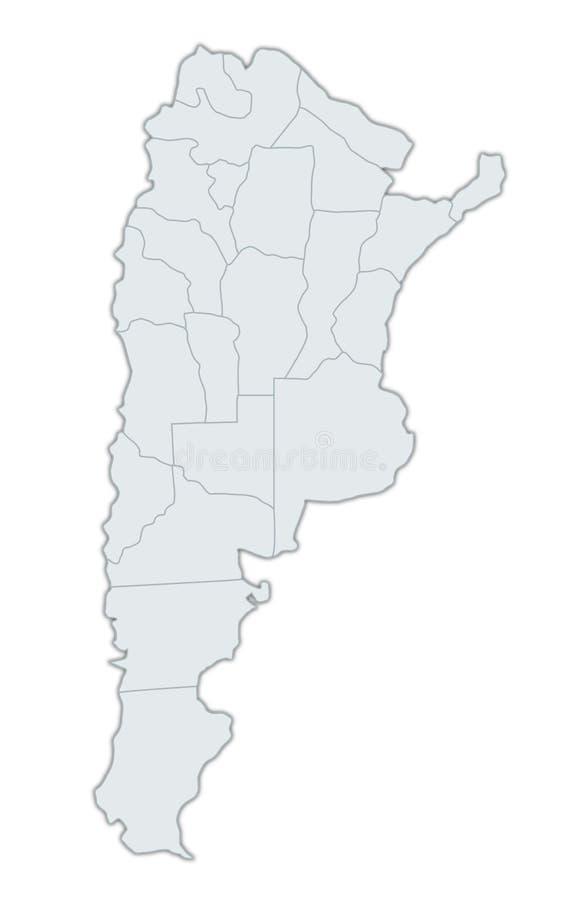 Kaart van Argentinië vector illustratie