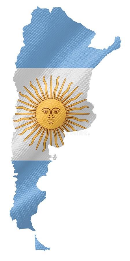 Kaart van Argentinië met vlag vector illustratie