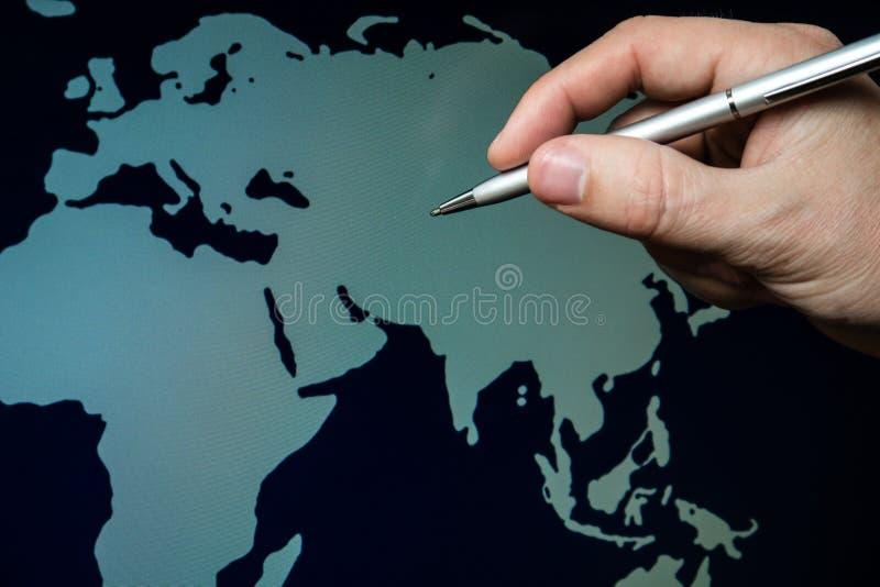 Kaart van Azië royalty-vrije stock foto's